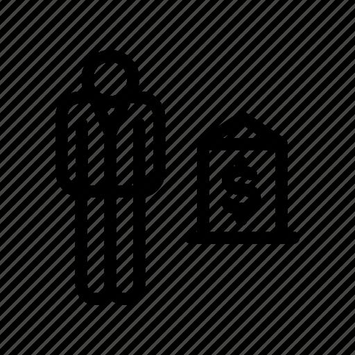 banker, banking, broker, businessman icon