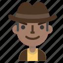 archeologist, avatar, emoji, male, profile, user icon