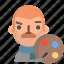 artist, avatar, emoji, male, profile, user icon