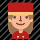 avatar, bellboy, emoji, female, profile, user icon