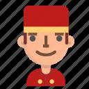 avatar, bellboy, emoji, male, profile, user icon