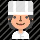 avatar, chef, emoji, emoticon, female, profile, user icon