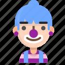avatar, clown, emoji, emoticon, female, profile, user icon