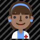 avatar, doctor, emoji, emoticon, female, profile, user icon
