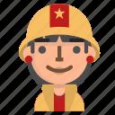 avatar, emoji, emoticon, female, firefighter, profile, user icon