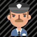 avatar, emoji, emoticon, male, policeman, profile, user icon