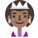 emoticon, profile, queen, user, female, emoji, avatar