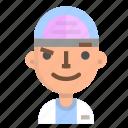 avatar, emoji, emoticon, male, profile, scientific, user icon