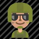 avatar, emoji, male, person, profile, soldier, user icon