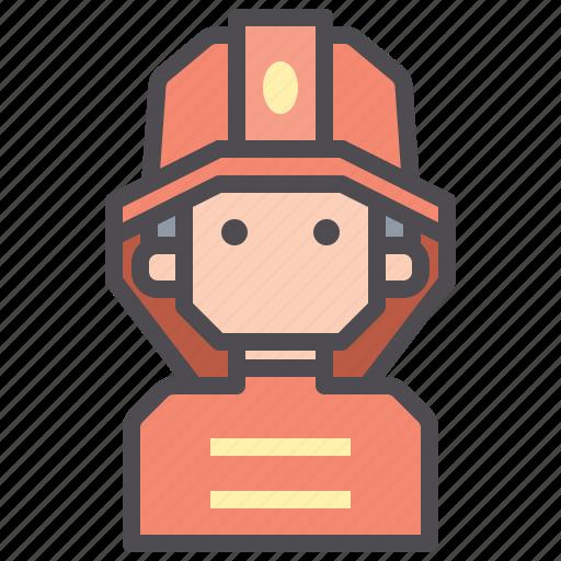 brigade, firefighter, jobs icon
