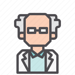 doctor, jobs, professor, scientist icon