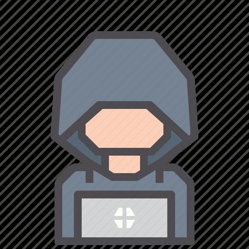 cracker, criminal, cyber, hacker, keylogger icon