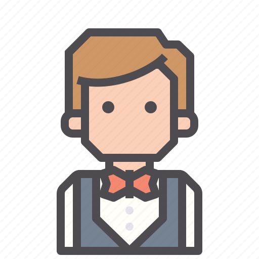 bellboy, hotel, maid, receptionist, restaurant, steward, waiter icon