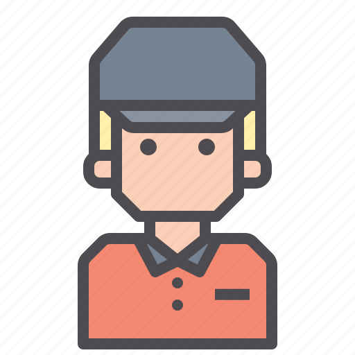 courier, delivery, messenger, package icon