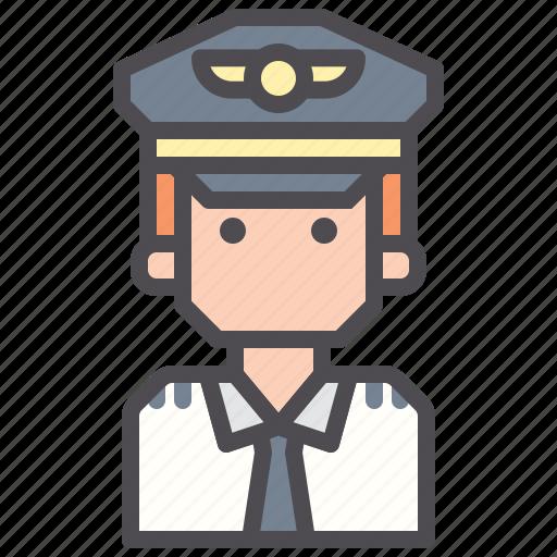 aviator, captain, pilot icon