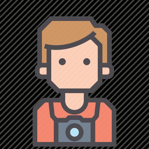 avatar, camera, person, photographer icon