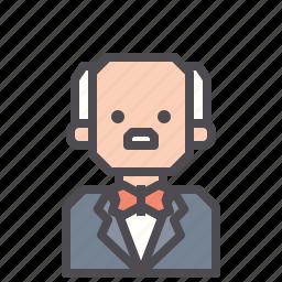 butler, overseer, servant, steward icon