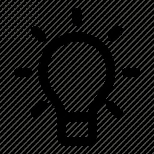 brainstorm, bulb, idea, lamp, think icon