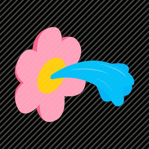 flower, fun, garden, isometric, nature, plant, sprinkle icon
