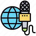 global, interview, microphone, news, report