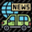broadcasting, channel, live, news, van