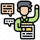 comments, feedback, message, opinion, suggestion icon