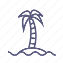 island, islet, journey, palm, travel, trip, vacation icon