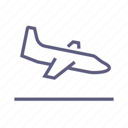 aircraft, airplane, boarding, flight, landing, plane, travel icon