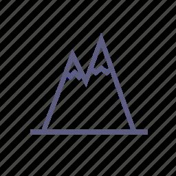 climbing, hill, mountain, rock, rock climbing, top, triangle icon