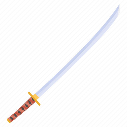 armaments, fine, fruit, japanese sword, katana, sharp, slice icon