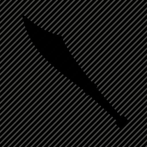 blade, juggling prop, knife, scimitar, sharp, steel icon