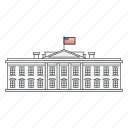 america, american, building, independence, president, united states, white house icon