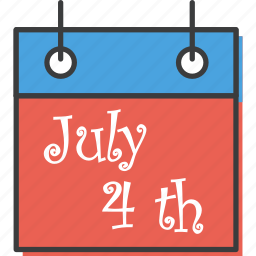 america, american, calendar, date, independence, july 4th, united states icon