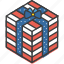 america, american, box, celebrate, gift, independence, july 4th icon