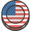 america, american, coin, flag, independence day, july 4th, united states icon
