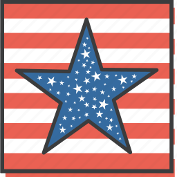 america, american, day, flag, july 4th, star, united states icon