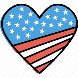 america, heart, independence, july 4th, love, passion, united states icon