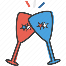 america, celebration, cheers, drink, independence, july 4th, party icon