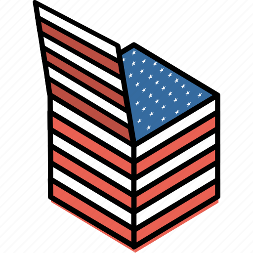america, american, celebrate, gift box, independence day, july 4th, stars icon