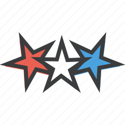 america, american, celebrate, freedom, independence, july 4th, stars icon