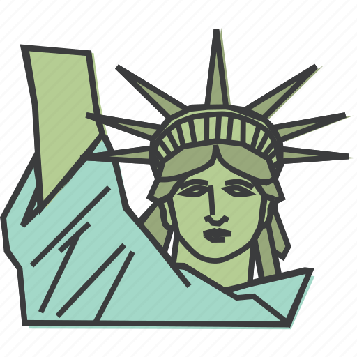 america, american, freedom, independence, liberty, statue, united states icon