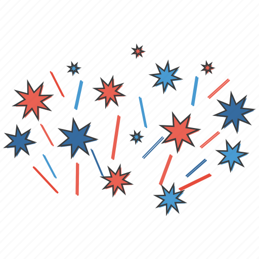 american, blast, celebrations, crackers, fireworks, independence, july 4th icon