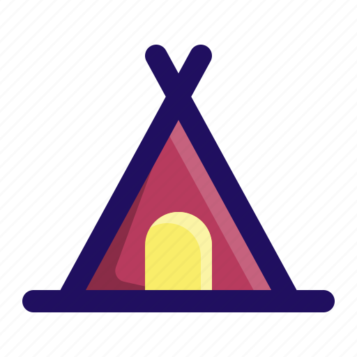 camp, camping, outdoor, rest, tent, tipi icon