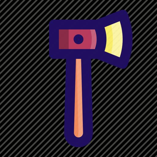 axe, chop, hatchet, lumberjack, tool, wood icon