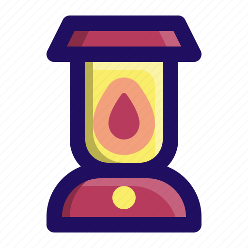camping, gas, lamp, lantern, light, outdoor icon