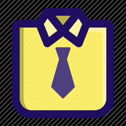 apparel, clothing, fashion, man, shirt, tie icon