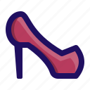 female, heels, high, shoe, shoes, woman icon
