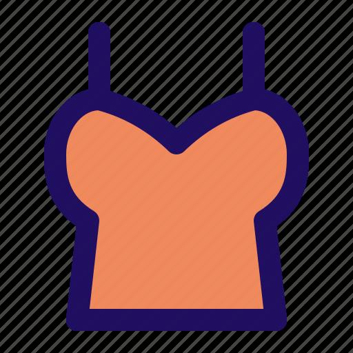 female, shirt, tanktop, undershirt, underwear, woman icon