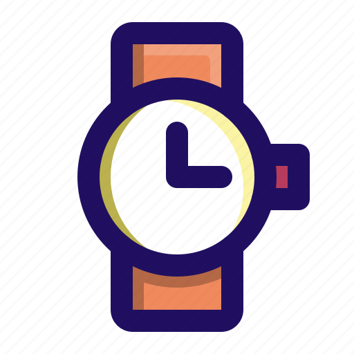 clock, hipster, time, watch icon