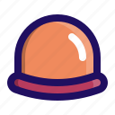 bowler, cap, hat, hipster, retro icon